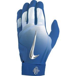 ナイキ メンズ グローブ 野球 Nike Huarache Elite Batting Gloves Game Royal/Chrome/Light Aqua|fermart