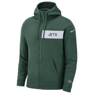 ナイキ Nike メンズ パーカー トップス NFL Full-Zip Fleece Club Hoodie Green|fermart