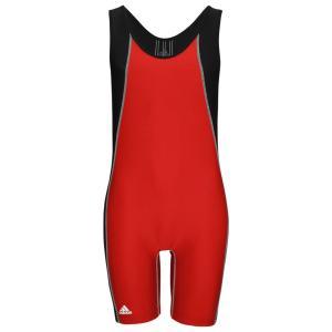 アディダス adidas メンズ トップス レスリング Wide Side Panel Singlet Red/Black|fermart