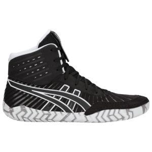 アシックス メンズ シューズ・靴 レスリング Aggressor 4 Black/Black fermart