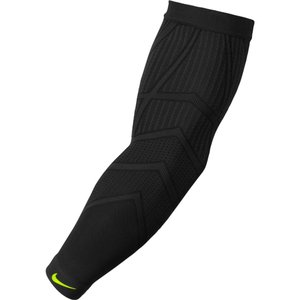 ナイキ Nike メンズ サポーター 野球 Baseball Pro Hyperwarm Players Sleeve Black/Volt|fermart