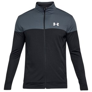 アンダーアーマー Under Armour メンズ ジャージ アウター sportstyle pique jacket Stealth Grey/White|fermart