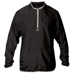 イーストン メンズ トップス 野球 M5 Long Sleeve Cage Jacket Black/Silver|fermart