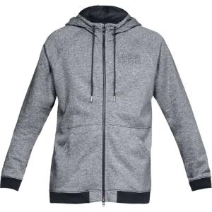 アンダーアーマー Under Armour メンズ パーカー トップス baseline fleece f/z hoodie Steel Light Heather/Black|fermart