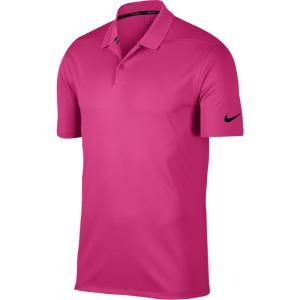 ナイキ メンズ トップス ゴルフ Dri-Fit Victory Solid Golf Vivid Pink/Black|fermart