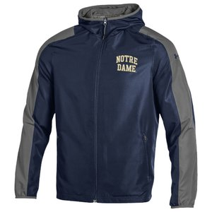 アンダーアーマー Under Armour メンズ ジャケット ウィンドブレーカー アウター college supervent windbreaker NCAA Notre Dame Fighting Irish Navy|fermart
