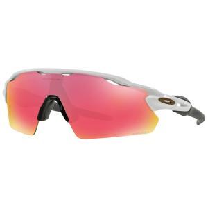 オークリー ユニセックス スポーツサングラス Radar EV Pitch Sunglasses Polished White Frame/Prizm Baseball Outfield Lens|fermart