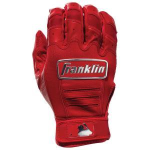 フランクリン メンズ グローブ 野球 Franklin CFX Pro Batting Gloves Red/Chrome|fermart