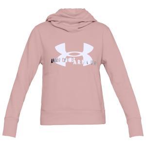 アンダーアーマー Under Armour レディース パーカー トップス Sportstyle Logo Hoodie Flushed Pink|fermart