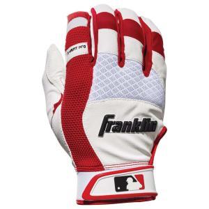 フランクリン メンズ グローブ 野球 Franklin X-Vent Pro Shok Batting Gloves Pearl/Red fermart