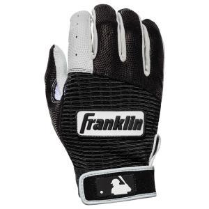 フランクリン メンズ グローブ 野球 Franklin Pro Classic Batting Gloves Black/White|fermart