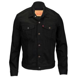 リーバイス メンズ ジャケット アウター Trucker Denim Jacket Polished Black|fermart