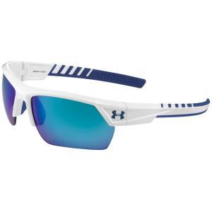 アンダーアーマー ユニセックス スポーツサングラス Igniter 2.0 Sunglasses White/Blue/Blue Multiflection Lens fermart