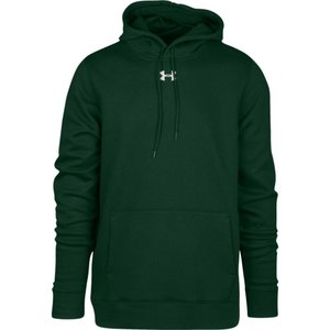 アンダーアーマー Under Armour メンズ パーカー トップス Team Hustle Fleece Hoodie Forest Green/White|fermart