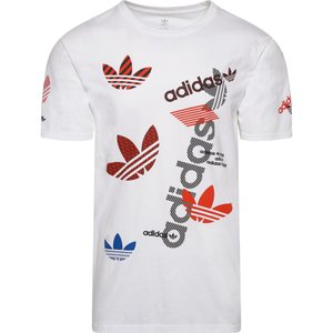アディダス adidas Originals メンズ Tシャツ トップス Logo Distortion T-Shirt White/Red/Black Logo Distortion|fermart