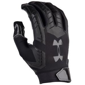 アンダーアーマー メンズ グローブ アメリカンフットボール F6 Football Gloves Black/Black|fermart
