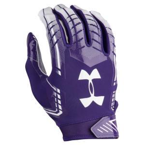 アンダーアーマー メンズ グローブ アメリカンフットボール F6 Football Gloves Purple/White fermart