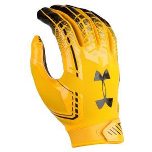 アンダーアーマー メンズ グローブ アメリカンフットボール F6 Football Gloves Gold/Navy fermart
