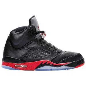 ナイキ ジョーダン Jordan メンズ シューズ・靴 バスケットボール Retro 5 Black/University Red|fermart
