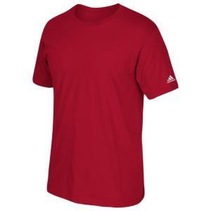 アディダス メンズ Tシャツ トップス adidas Team Short Sleeve Logo T-Shirt Power Red|fermart