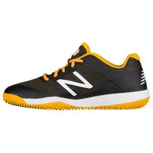 ニューバランス メンズ シューズ・靴 野球 New Balance 4040v4 Turf Black/Yellow|fermart