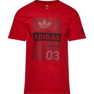 アディダス adidas Originals メンズ Tシャツ トップス Trefoil Flash T-Shirt Red/Black|fermart