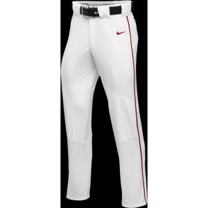 ナイキ メンズ ボトムス・パンツ 野球 Nike Team Vapor Pro Pant Piped White/Scarlet/Scarlet fermart