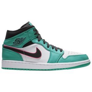 ナイキ ジョーダン Jordan メンズ シューズ・靴 バスケットボール AJ 1 Mid SE Turbo Green/Black/Hyper Pink/Orange Peel fermart