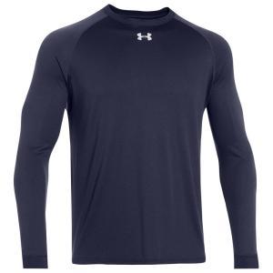 アンダーアーマー メンズ 長袖Tシャツ トップス Under Armour Team Locker Long Sleeve T-Shirt Midnight Navy/White|fermart
