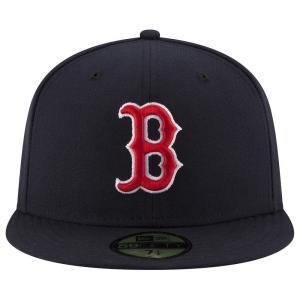 ニューエラ メンズ キャップ 帽子 MLB 59Fifty Authentic Cap Navy/Red|fermart
