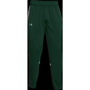 アンダーアーマー Under Armour メンズ スウェット・ジャージ ボトムス・パンツ Team Qualifier Warm-Up Pants Forest Green/White|fermart