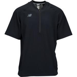 ニューバランス メンズ トップス 野球 New Balance Short Sleeve 3000 Batting Jacket Black|fermart