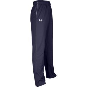 アンダーアーマー Under Armour メンズ スウェット・ジャージ ボトムス・パンツ Team Rival Knit Warm-Up Pants Navy/White|fermart
