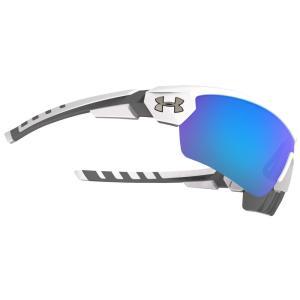 アンダーアーマー ユニセックス スポーツサングラス Rival Sunglasses Satin White Frame/Blue|fermart