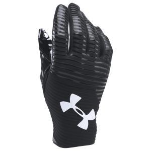 アンダーアーマー Under Armour メンズ グローブ アメリカンフットボール Highlight Football Gloves Black/Black/White|fermart