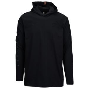 ナイキ Nike メンズ パーカー トップス NBA L/S Hoodie T-Shirt Black|fermart