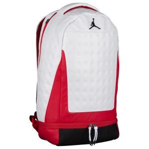 ナイキ ジョーダン ユニセックス バックパック・リュック バッグ Retro 13 Backpack White/Reflective Silver|fermart