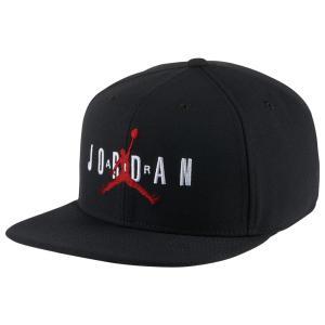 ナイキ ジョーダン Jordan ユニセックス キャップ 帽子 Jumpman Air Pro Snapback Cap Black/Black/Gym Red|fermart