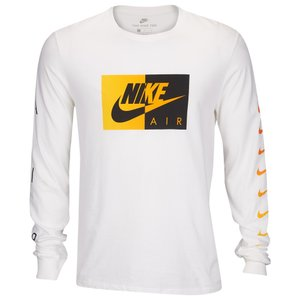 ナイキ Nike メンズ 長袖Tシャツ トップス Graphic Long Sleeve T-Shirt White/Yellow/Black|fermart