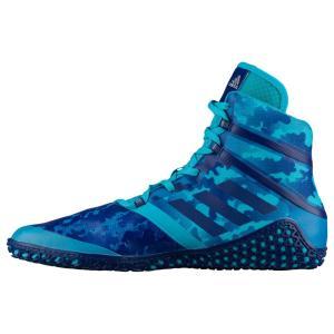 アディダス メンズ シューズ・靴 レスリング Impact Turquoise Camo|fermart