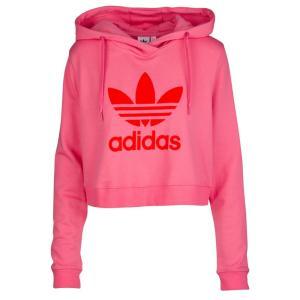 アディダス adidas Originals レディース パーカー トップス Colorado Cropped Hoodie Chalk Pink|fermart