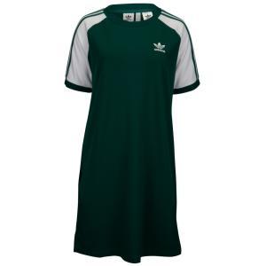 アディダス レディース ワンピース ワンピース・ドレス Adicolor 3-Stripe Raglan Dress Green/White|fermart