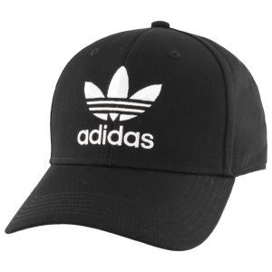 アディダス adidas Originals メンズ キャップ 帽子 trefoil precurve adjustable cap Black|fermart