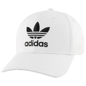 アディダス adidas Originals メンズ キャップ 帽子 trefoil precurve adjustable cap White|fermart