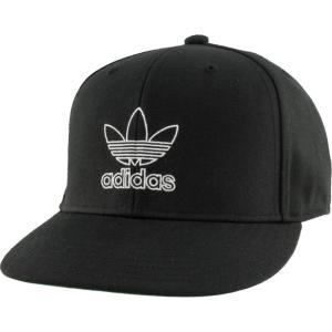 アディダス adidas Originals メンズ キャップ スナップバック 帽子 Signature Outline Snapback Black/White fermart