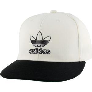 アディダス adidas Originals メンズ キャップ スナップバック 帽子 Signature Outline Snapback Off White/Black fermart