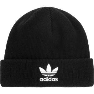 アディダス adidas Originals メンズ ニット ビーニー 帽子 Trefoil Beanie Black/White|fermart