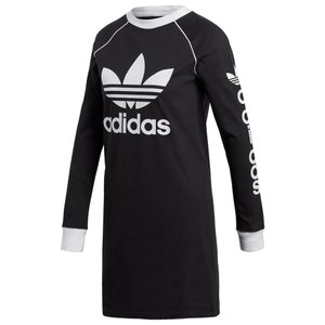アディダス adidas Originals レディース ワンピース ワンピース・ドレス Winter Ease Long-Sleeve Dress Black/White fermart