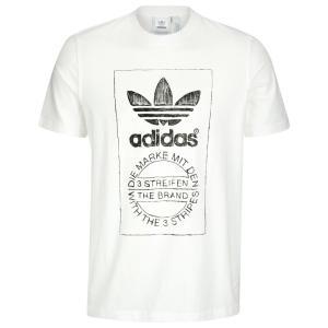 アディダス adidas Originals メンズ Tシャツ トップス Hand Drawn T-Shirt White|fermart