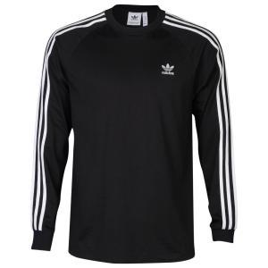 アディダス adidas Originals メンズ 長袖Tシャツ トップス California Long Sleeve T-Shirt Black/White|fermart